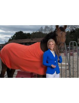 Horse Wool Rug - Orange