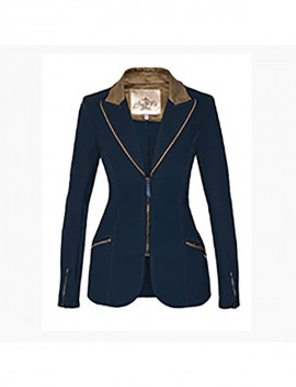 Veste femme Alix bleue électrique standard ou sur-mesure