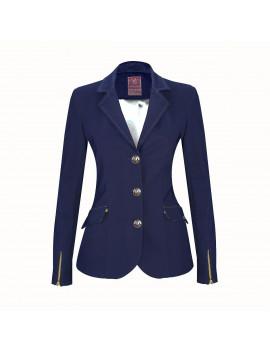 Veste femme Meredith bleue marine col bleu marine standard ou sur-mesure