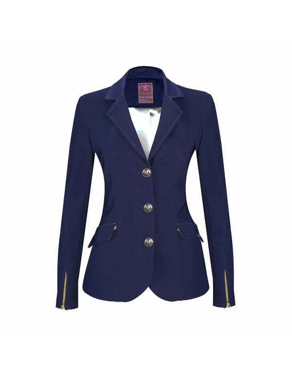 veste femme meredith bleue marine col bleu marine standard ou sur mesure ju et pa. Black Bedroom Furniture Sets. Home Design Ideas