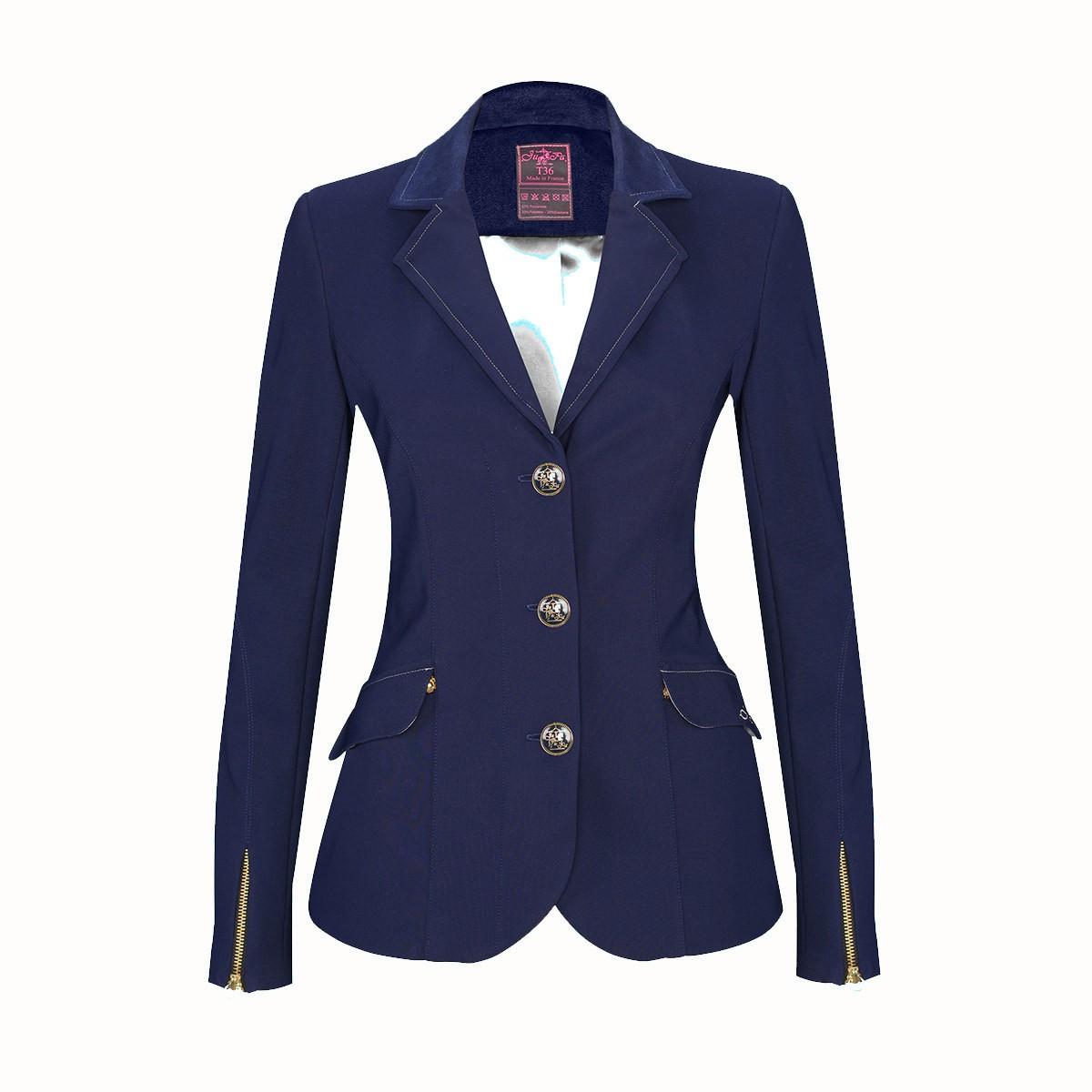 Veste equitation femme bleu marine