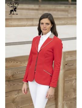 Veste femme Zip rouge